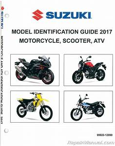 2017 Suzuki Motorcycle Scooter Atv Identification Guide