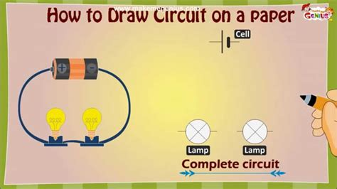 draw  electric circuit diagram  kids youtube