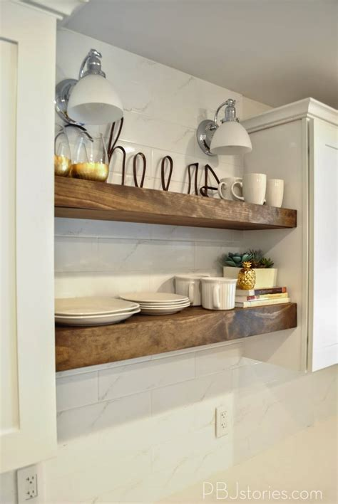 10 Amazing Kitchen Open Shelving Ideas by 32 Bright Diy Floating Shelf Ideas To Maximize Your Space