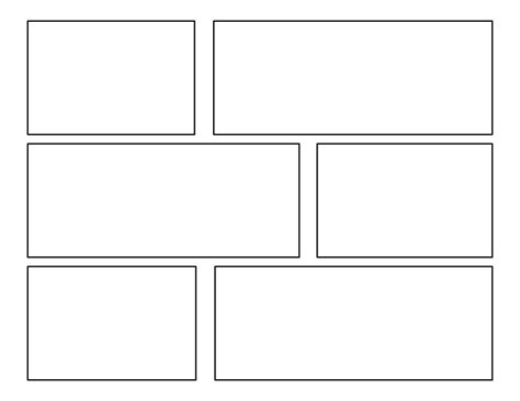 Cartoon Comic Strip Template