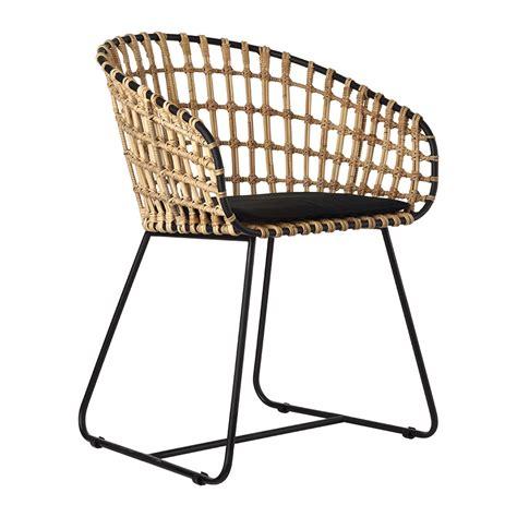 chaise metal noir buy pols potten chair rattan amara