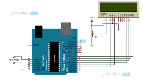 Arduino Uno Circuit Diagram Pdf by Digital Arduino Voltmeter