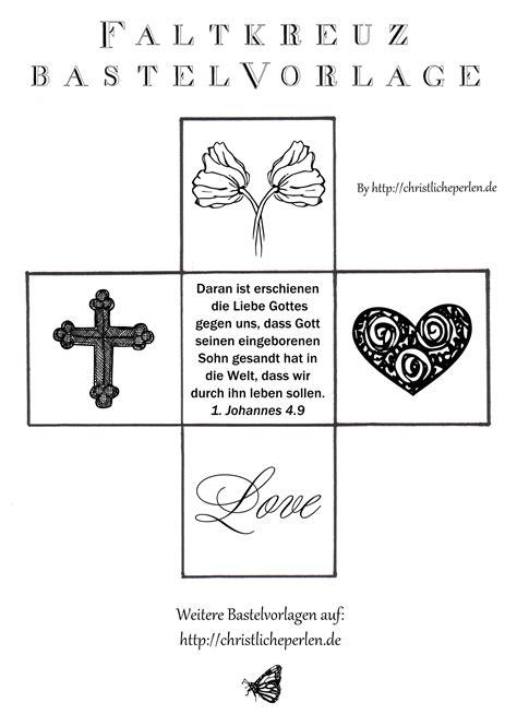 kreuz aus papier basteln christliche perlen