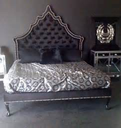 4091 velvet victorian gothic bed tufted headboard in black flickr