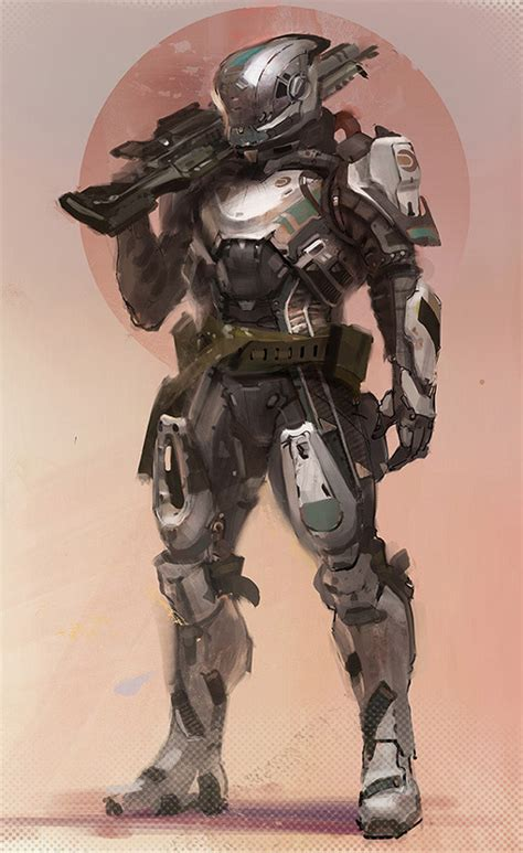 science fiction concept for titan a e by future war stories fws topics powered armor