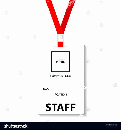 Staff Badge Template by 12 Employee S Photo Id Badges Template Exceltemplates