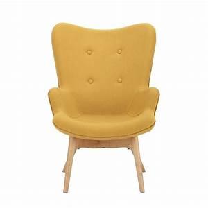 Fauteuil Bois Et Tissu : fauteuil vintage enfant en bois et tissu jaune iceberg maisons du monde ~ Teatrodelosmanantiales.com Idées de Décoration