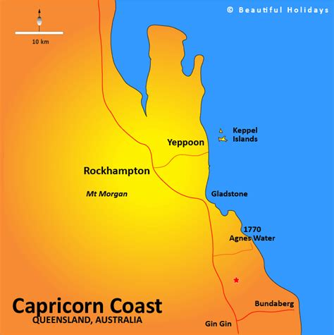 The tropic of capricorn (or the southern tropic) is the circle of latitude that contains the subsolar point at the december (or southern) solstice. Capricorn Coast Accommodation & Holidays in Queensland ...