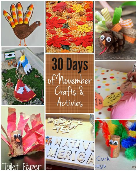 30 days of activities for november free activity 773 | november kids activity fall thanksgiving crafts