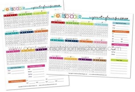 year   glance calendar printable