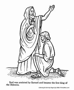 Samual Anointed King Saul Old Testament Coloring Pages