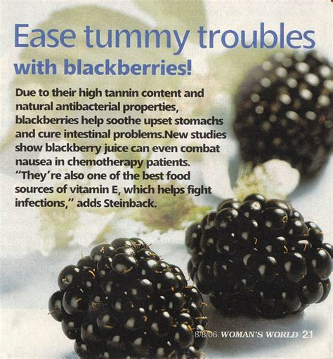 Runner Things 1894 Ease Tummy Troubles With Blackberries