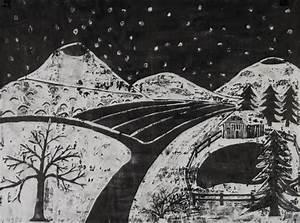 Schwarz Weiß Kontrast : grafik deckwei tusche auswaschtechnik winterlandschaft schulkunst archiv baden w rttemberg ~ Frokenaadalensverden.com Haus und Dekorationen
