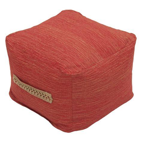 outdoor pouf ottoman hton bay vero chili square outdoor pouf ottoman with