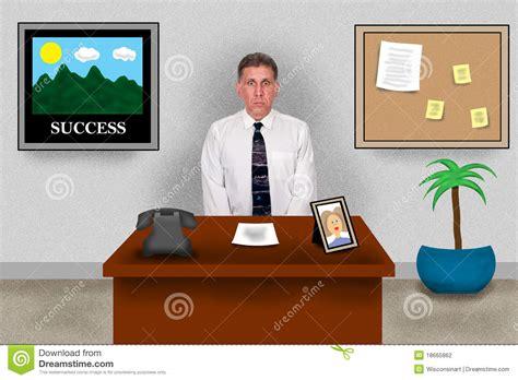 bureau dessin business office sitting at work desk stock
