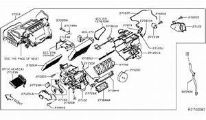 2017 Nissan Leaf Heater  U0026 Blower Unit Parts Listing