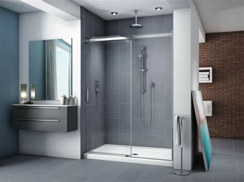 60 shower door fleurco 57 60 quot x 75 quot apollo in line frameless sliding