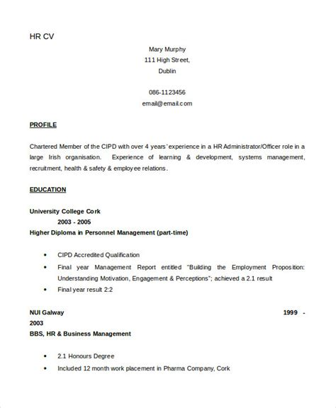 Network Administrator Cv Template Word by Cv Template 20 Free Word Pdf Documents Free