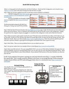 Revolt Osd Wiring Diagram  U2013 Flightone Support