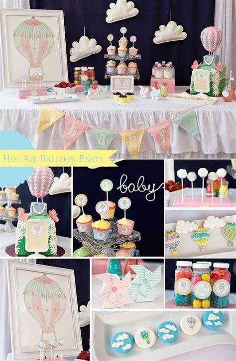 Hot Air Balloon Themed Baby Shower Via Karas Party Ideas
