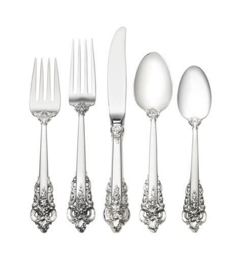 flatware sterling silver baroque luxury grande sets wallace spoon setting silverware piece place lifetime unique cutlery dinnerware tableware spoons forks