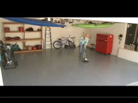 garage floor paint benjamin garage guard epoxy floor paint promo youtube