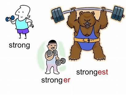 Er Est Comparing Using Language Strong Word