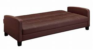 DHP Delaney Sofa Sleeper In Rich Faux Leather Import It All