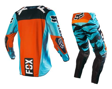 orange motocross gear fox racing new 2016 mx 180 vicious aqua orange bmx