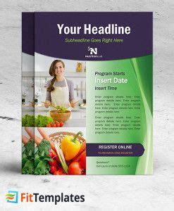 Health Coach Brochure Templates by Dietitian Flyer Template For Health Coaching Or Cooking
