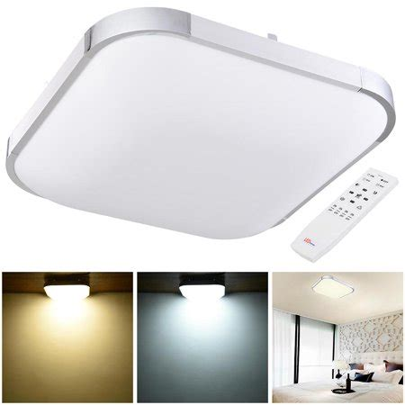 yescom 36w 15 quot modern dimmable led ceiling light square