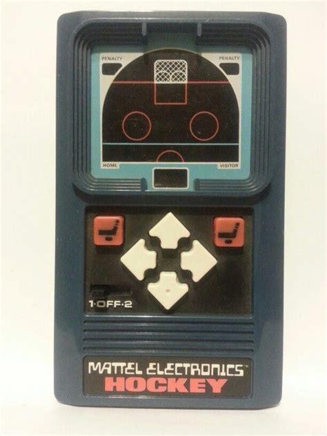 mattel electronics hockey vintage handheld tabletop video
