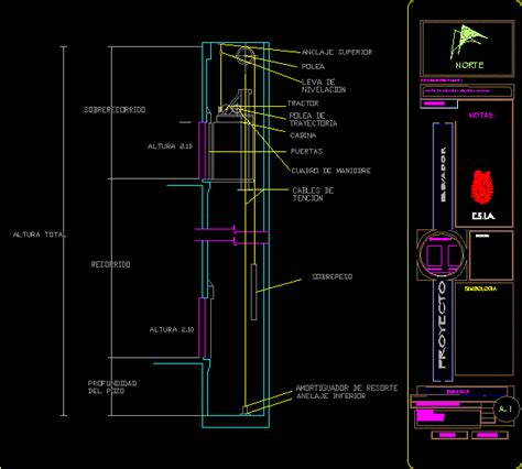 elevator dwg section  autocad designs cad