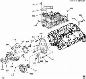 2000 Chevrolet S10 Bolt  Engine Front Cover  Bolt  Eng Frt