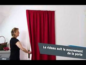 Tringle A Rideau Pour Porte D Entrée : ridorail ib tringle pour habiller votre porte avec un rideau galon youtube ~ Nature-et-papiers.com Idées de Décoration