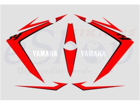 yzf   white red set eshop stickers