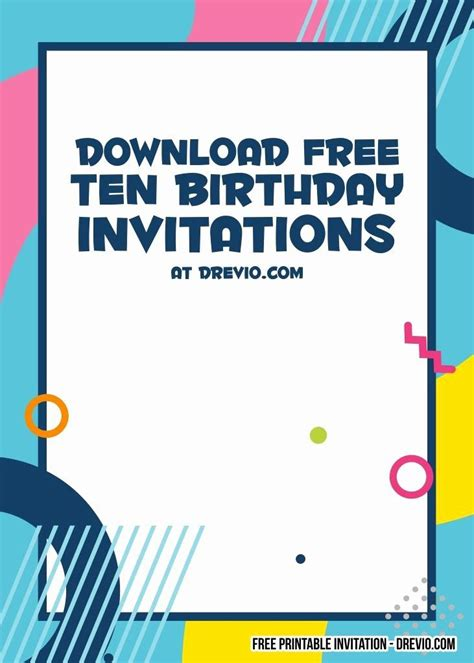 25 You Re Invited Template Word in 2020 10th birthday