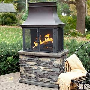 Precast, Outdoor, Fireplaces, Wood, Burning