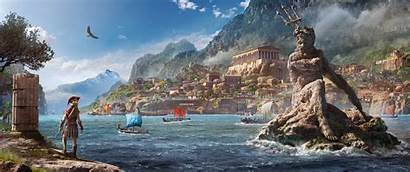 Creed Odyssey Assassin Ancient Greece Game Ultrawide