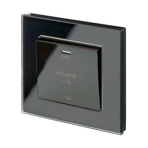 Crystal Pole Fan Isolator Switch Black