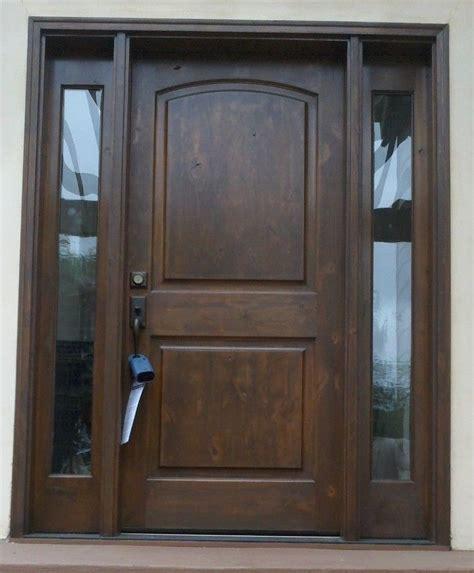 Solid Wood Exterior Doors by Front Exterior Entry Door With Sidelights Krosswood Doors