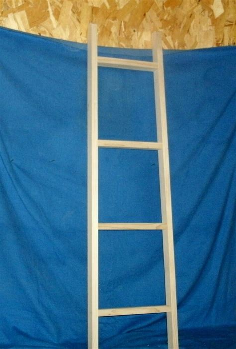 Rustic Country Wooden Blanket Ladder Unfinished Wall