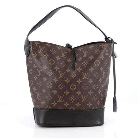 louis vuitton nn idole bucket bag monogram canvas  leather gm  stdibs