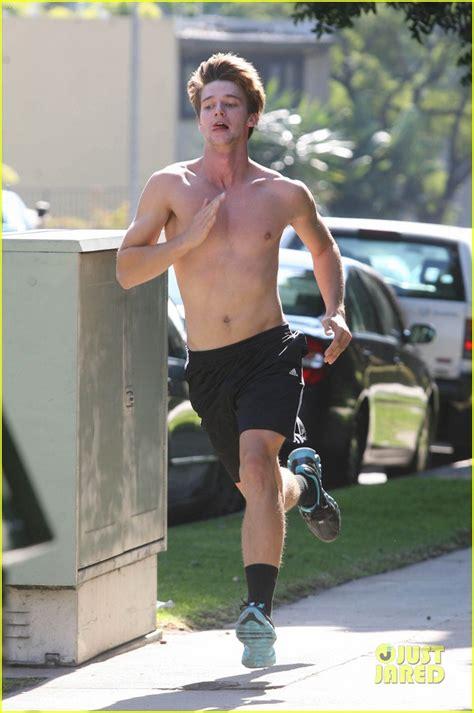 patrick schwarzenegger shirtless run photo