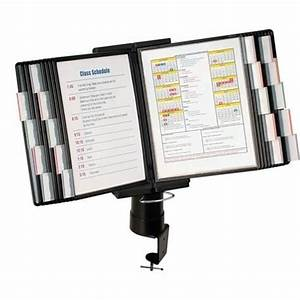 aidata fds011l 20 desk clamp document holder 20 pocket With document display holder