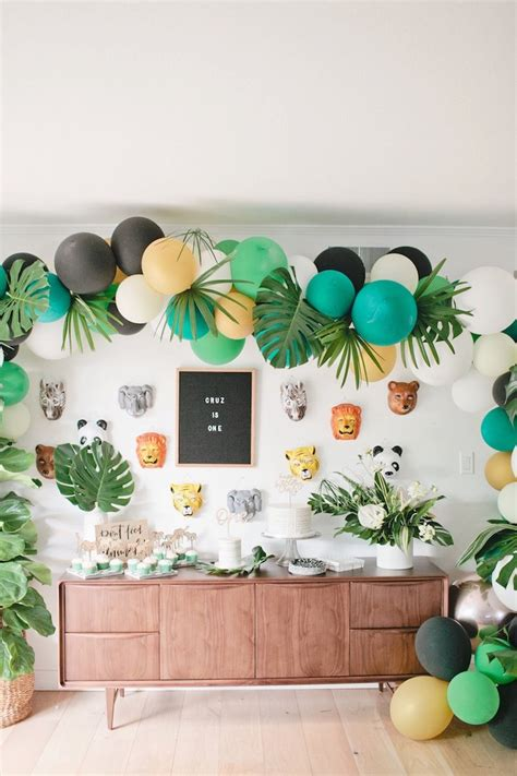karas party ideas jungle st birthday party karas