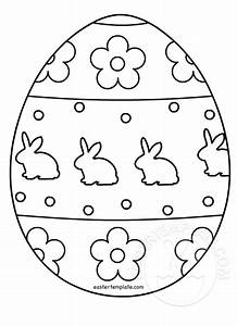 Easter Egg Colouring Page Easter Template