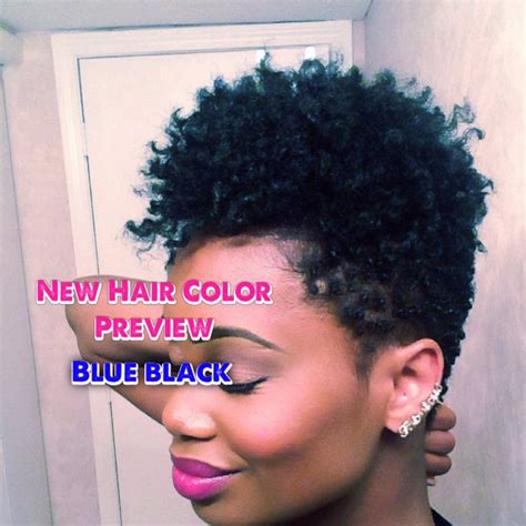 My New Hair Color Preview Natural Blue Black Youtube