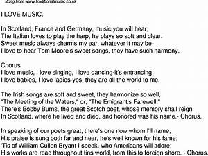 Old Time Song Lyrics for 40 I Love Music
