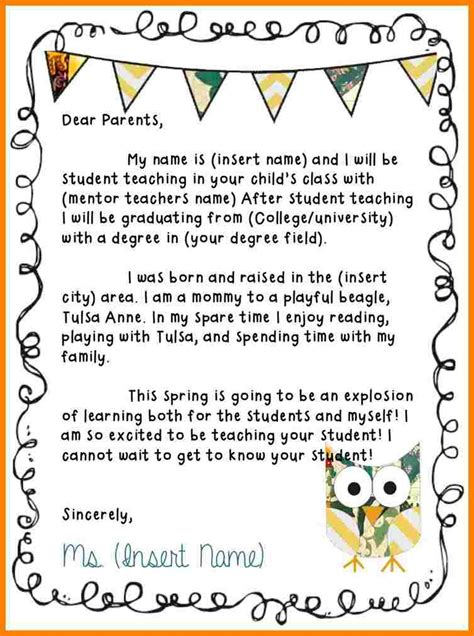 c letter templates from parents 6 introduction letter to parents sle introduction letter